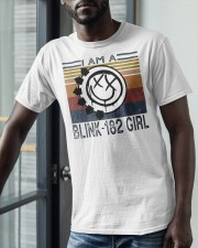 Vintage I Am A Blink 182 Girl Shirt Classic T-Shirt apparel-classic-tshirt-lifestyle-front-39
