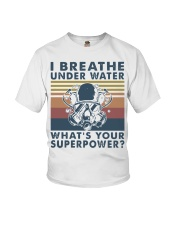 Vintage Scuba Diving I Breathe Underwater Shirt Youth T-Shirt thumbnail