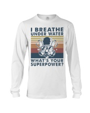 Vintage Scuba Diving I Breathe Underwater Shirt Long Sleeve Tee thumbnail