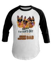 Happy Fathers Day To The Best German Dad Shirt Baseball Tee thumbnail