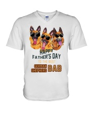 Happy Fathers Day To The Best German Dad Shirt V-Neck T-Shirt thumbnail