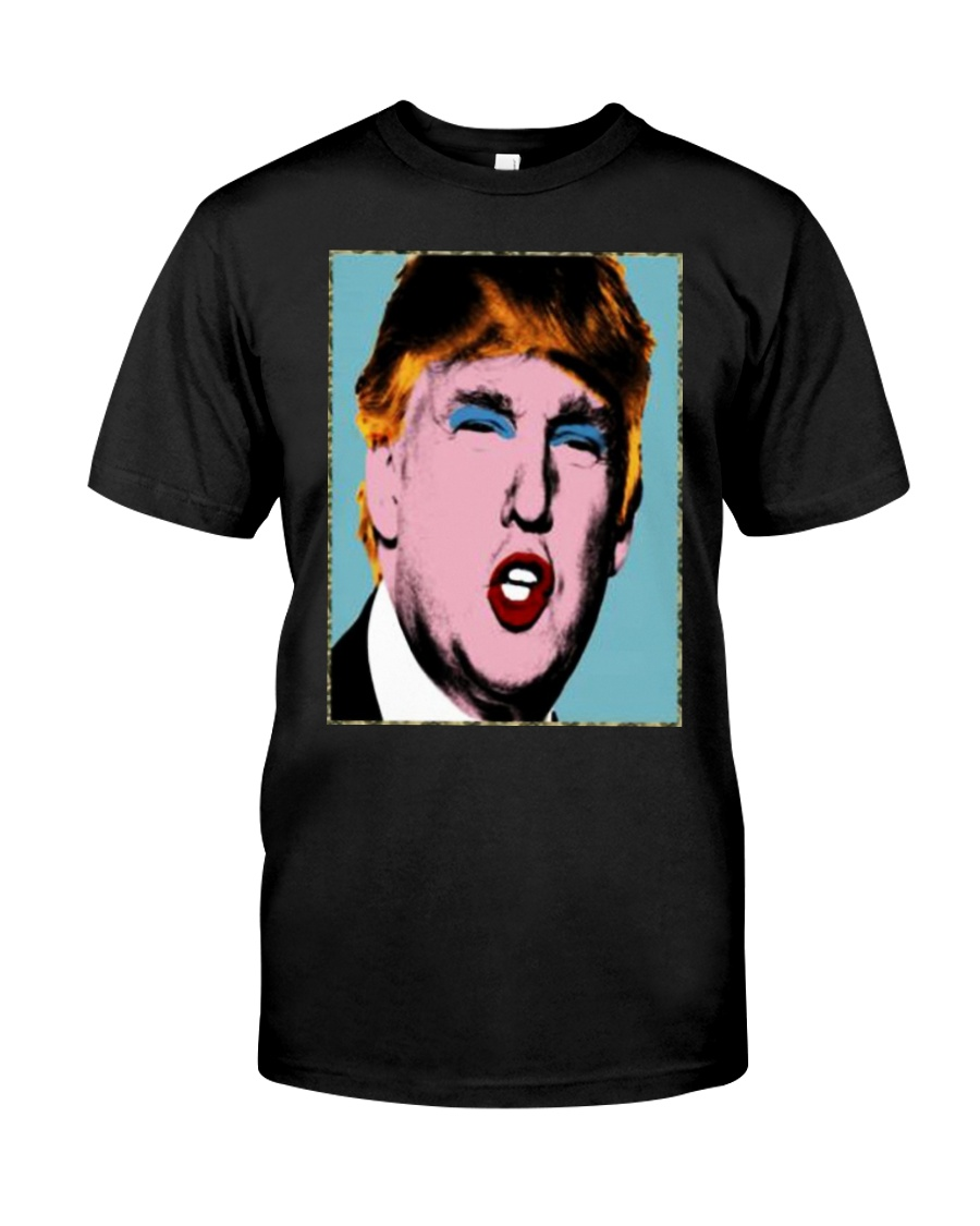 Trump With Makeup On His Shirt Classic T-Shirt