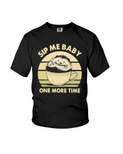 Vintage Hedgehog Sip Me Baby One More Time Shirt Youth T-Shirt thumbnail