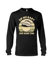 Vintage Hedgehog Sip Me Baby One More Time Shirt Long Sleeve Tee thumbnail
