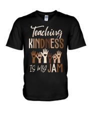 Teaching Kindness Is My Jam Shirt V-Neck T-Shirt thumbnail