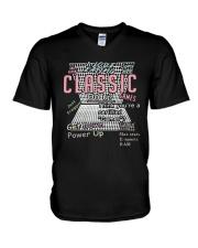 I Love Eating Classic Get Down Power Up Shirt V-Neck T-Shirt thumbnail