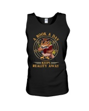 Owl A Book A Day Keeps Reality Away Shirt Unisex Tank tile