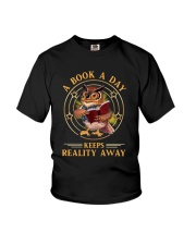 Owl A Book A Day Keeps Reality Away Shirt Youth T-Shirt thumbnail