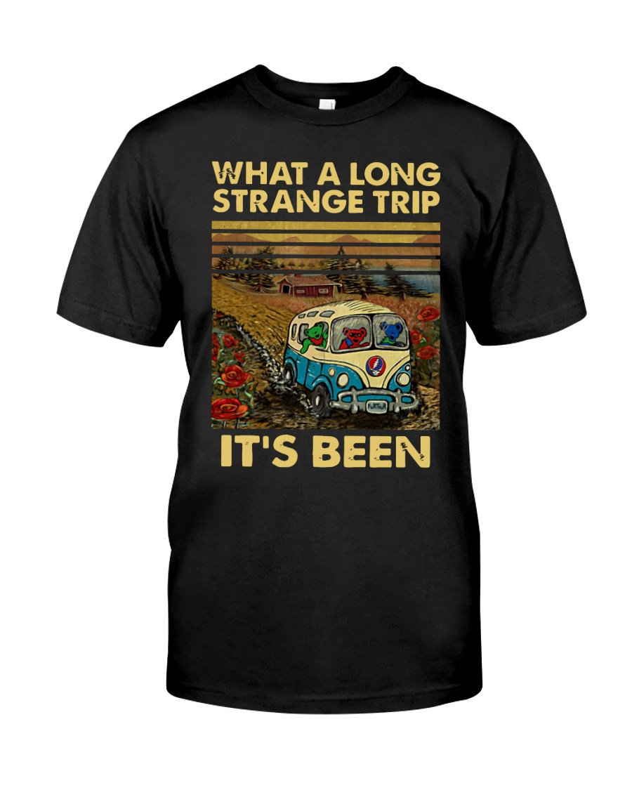 Vintage What A Long Strange Trip It's Been Shirt Classic T-Shirt