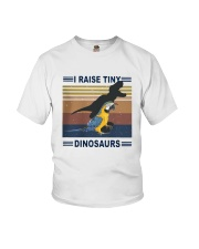 Vintage Parrot I Raise Tiny Dinosaurs Shirt Youth T-Shirt thumbnail