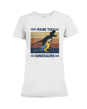 Vintage Parrot I Raise Tiny Dinosaurs Shirt Premium Fit Ladies Tee tile