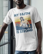 Vintage Jesus My Faith Is Strong Shirt Classic T-Shirt apparel-classic-tshirt-lifestyle-front-39
