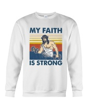 Vintage Jesus My Faith Is Strong Shirt Crewneck Sweatshirt thumbnail