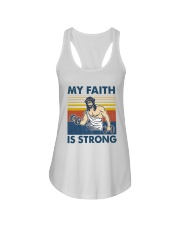 Vintage Jesus My Faith Is Strong Shirt Ladies Flowy Tank tile