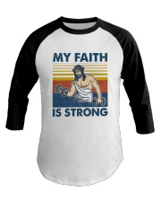 Vintage Jesus My Faith Is Strong Shirt Baseball Tee tile