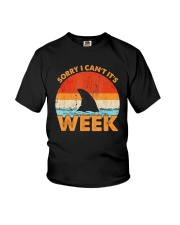 Vintage Shark Sorry I Cant Its Week Shirt Youth T-Shirt tile