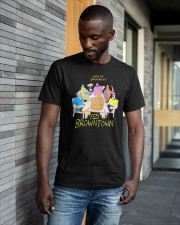 When The Powerfish Fed Browntown Shirt Classic T-Shirt apparel-classic-tshirt-lifestyle-front-41-b