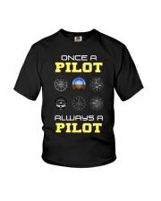 Once A Pilot Always A Pilot Shirt Youth T-Shirt thumbnail