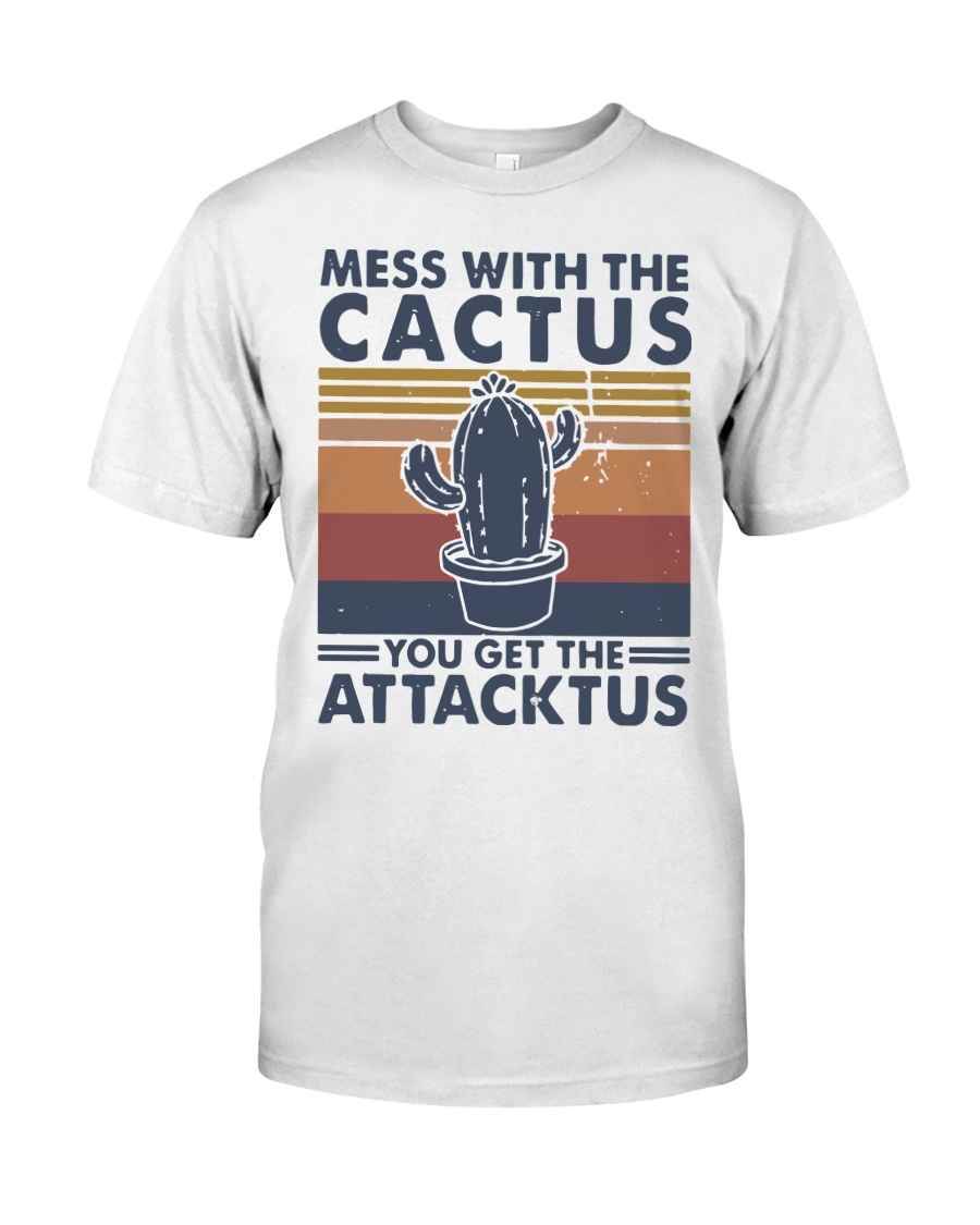 Vintage Mess With The Cactus Get Attacktus Shirt Classic T-Shirt