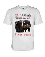 Yes I Really Do Need All These Bears Shirt V-Neck T-Shirt thumbnail