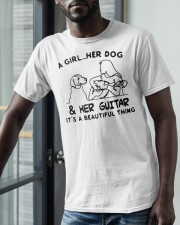 A Girl Her Dog And Her Guitar Its Beautiful Shirt Classic T-Shirt apparel-classic-tshirt-lifestyle-front-39