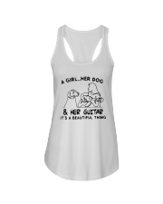 A Girl Her Dog And Her Guitar Its Beautiful Shirt Ladies Flowy Tank thumbnail