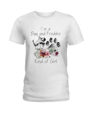 Im A Dog And Freddie Kind Of Girl Shirt Ladies T-Shirt thumbnail