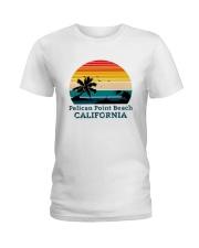 Vintage Pelican Point Beach California Shirt Ladies T-Shirt thumbnail