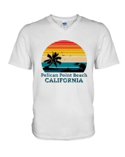 Vintage Pelican Point Beach California Shirt V-Neck T-Shirt thumbnail