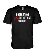 John Cardillo Roger Stone Still Did Nothing Shirt V-Neck T-Shirt thumbnail