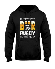 If It Involves Beer And Rugby Count Me In Shirt Hooded Sweatshirt thumbnail