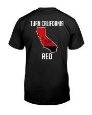 Turn California Red Shirt Classic T-Shirt back