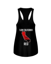 Turn California Red Shirt Ladies Flowy Tank thumbnail