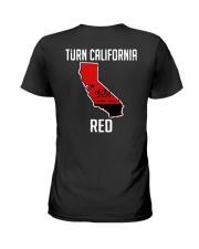 Turn California Red Shirt Ladies T-Shirt thumbnail