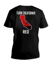 Turn California Red Shirt V-Neck T-Shirt thumbnail
