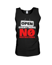 Open Everything No Restrictions Shirt Unisex Tank thumbnail