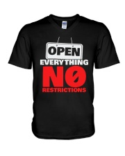 Open Everything No Restrictions Shirt V-Neck T-Shirt thumbnail