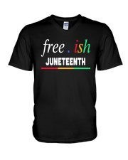 Ish Juneteenth Shirt V-Neck T-Shirt tile