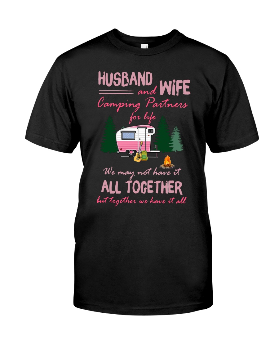 Husband And Wife Camping Partners For Life Shirt Classic T-Shirt