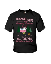 Husband And Wife Camping Partners For Life Shirt Youth T-Shirt thumbnail