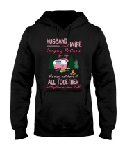 Husband And Wife Camping Partners For Life Shirt Hooded Sweatshirt tile