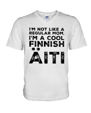 Im Not Like A Regular Mom Im A Cool Finnish Shirt V-Neck T-Shirt thumbnail