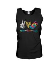 Peace Love Crocs Shirt Unisex Tank thumbnail