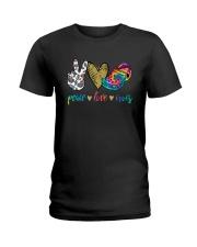 Peace Love Crocs Shirt Ladies T-Shirt thumbnail