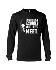 Skull Im The Nicest Asshole Youll Ever Meet Shirt Long Sleeve Tee thumbnail