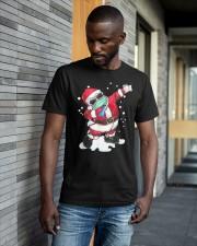 Christmas Santa Facemask Dabbing Shirt Classic T-Shirt apparel-classic-tshirt-lifestyle-front-41-b