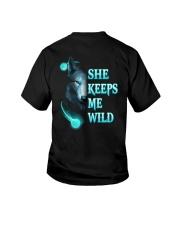 Wolf She Keeps Me Wild Shirt Youth T-Shirt thumbnail