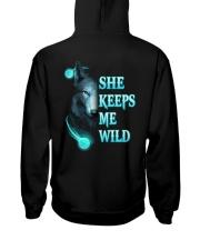 Wolf She Keeps Me Wild Shirt Hooded Sweatshirt thumbnail