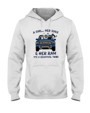 A Girl Her Dogs And Her Ram Its A Beautiful Shirt Hooded Sweatshirt thumbnail