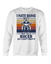 Vintage I Hate Being Sexy But Im A Biker Shirt Crewneck Sweatshirt thumbnail